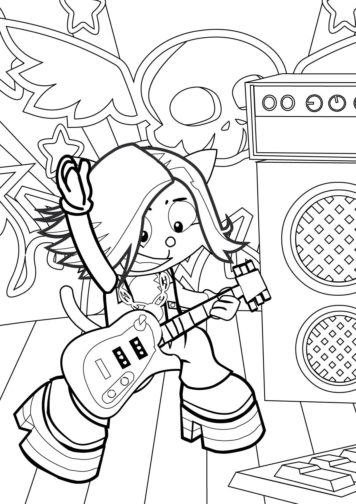 Rockstar Coloring Pages Printables Star Coloring Pages Cartoon