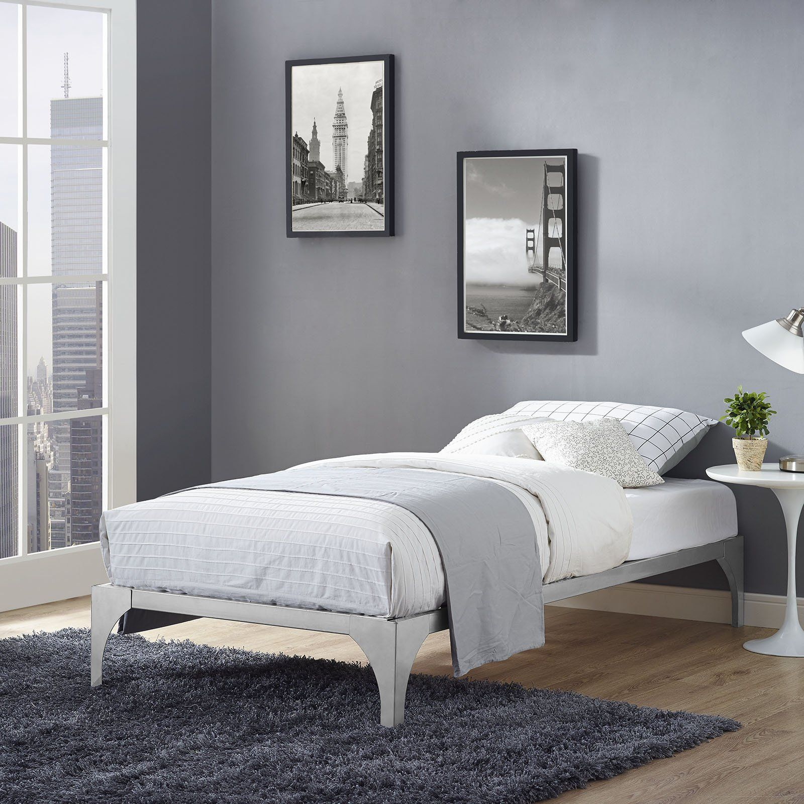 Modway Furniture Modern Ollie Twin Bed Frame Mod 5430 Modern
