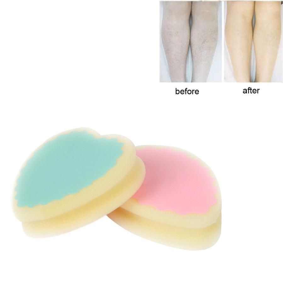 1pcs Magic Painless Hair Removal Sponge Pad Leg Arm Hair Remover Effective Body Treatments Scrubs Bodys Treatment Bath & Shower