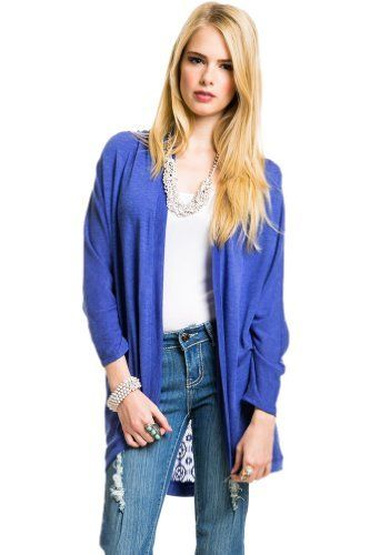 $16 at www.heavenlycouture.com Lace Back Shawl Cardigan in Blue