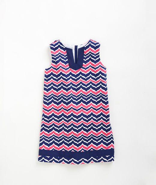 9d053de802b5 Girls Whale Tail Chevron Dress