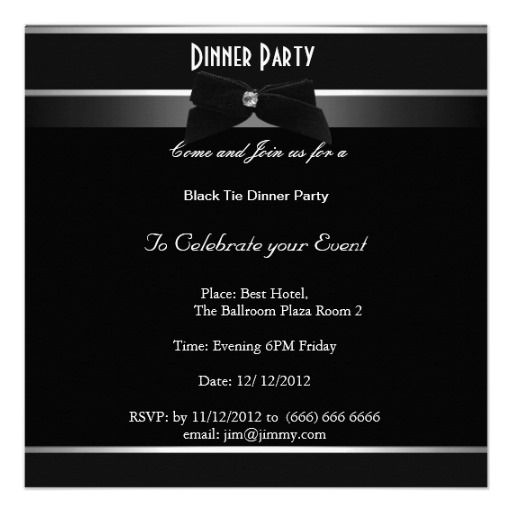 Formal Black and White Party Any Event Invitations by Zizzago - best of formal invitation card birthday