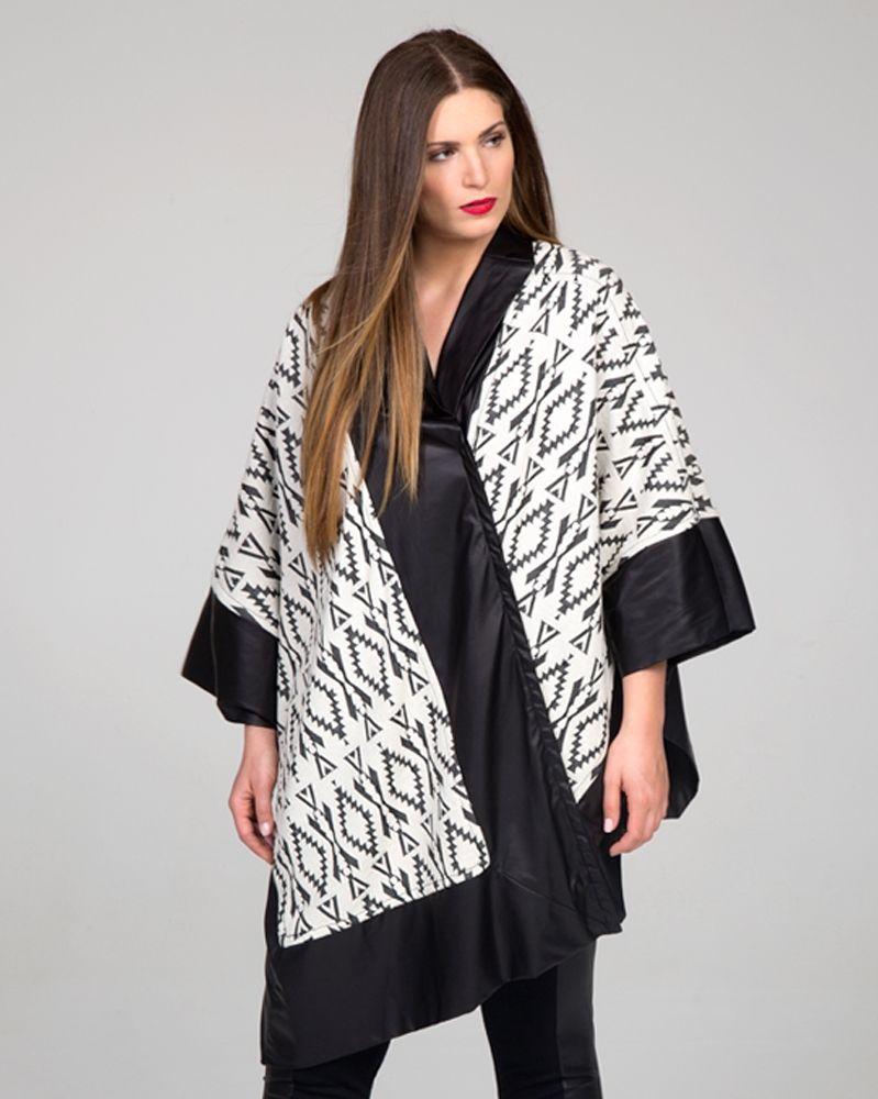 Κάπα με ασπρόμαυρη αισθητική — mat. XXL sizes — Γυναικεία Ρούχα ... dc560b6bdde