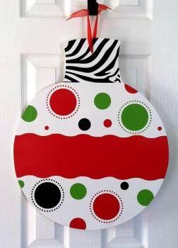 Christmas Ornament Door Hanger - Large | Door Hangers | Pinterest ...