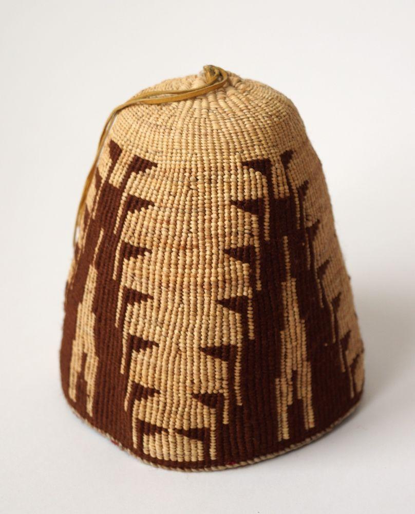 SIGNED Umatilla Yakima Nez Perce Native American Indian Oregon Fez Basket  Hat  5d2124a376c