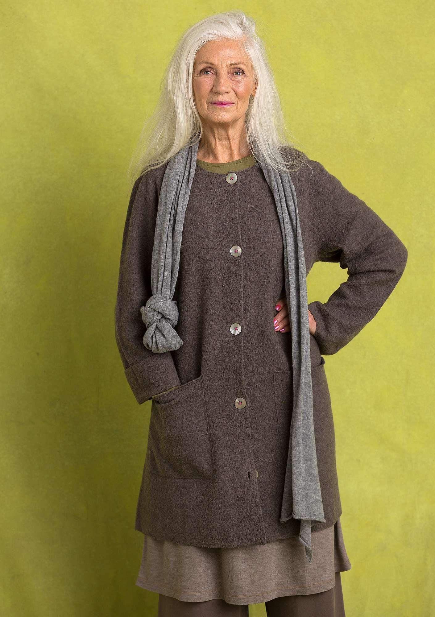 6eb8bccada7a Long cardigan in felted wool | Style Me | Kläder, Hösten 2018, Höst