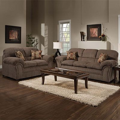 Best Simmons® Champion Mocha Set At Big Lots Living Room Sets Living Room Renovation Couch And 400 x 300