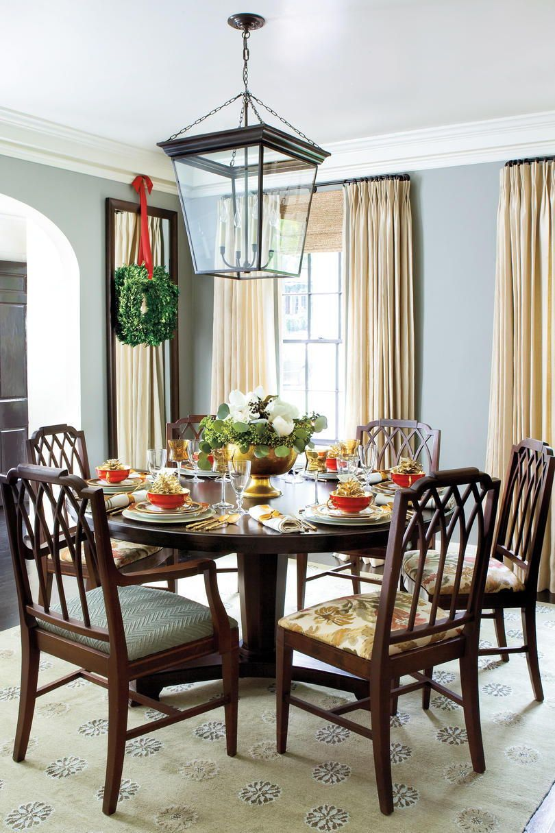 100 Best Ever Christmas Decorating Ideas Round Dining Room