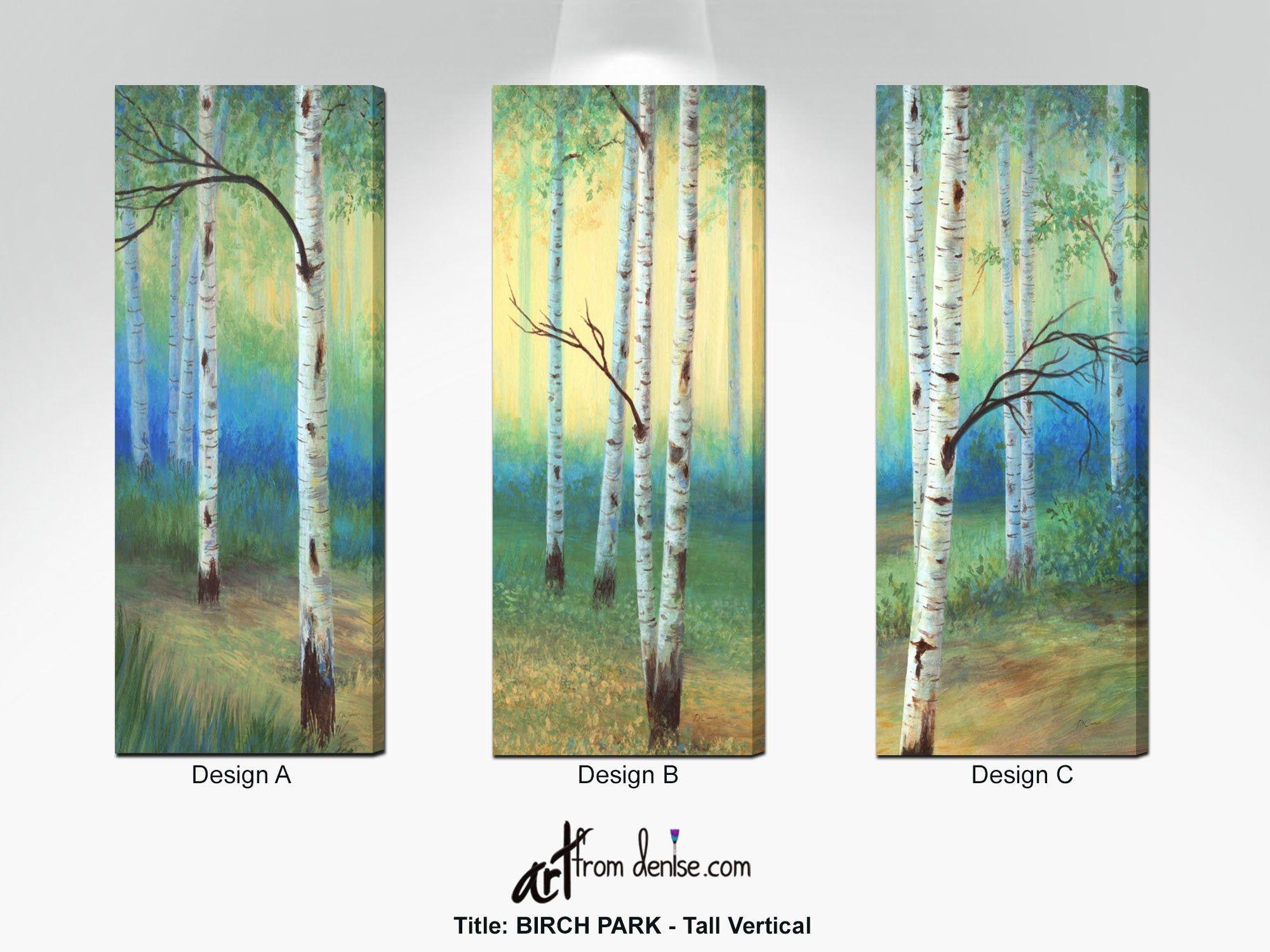 Aspen Trees Decor Long Tall Narrow Vertical Wall Art Etsy Vertical Wall Art Wall Art Canvas Prints Birch Tree Painting