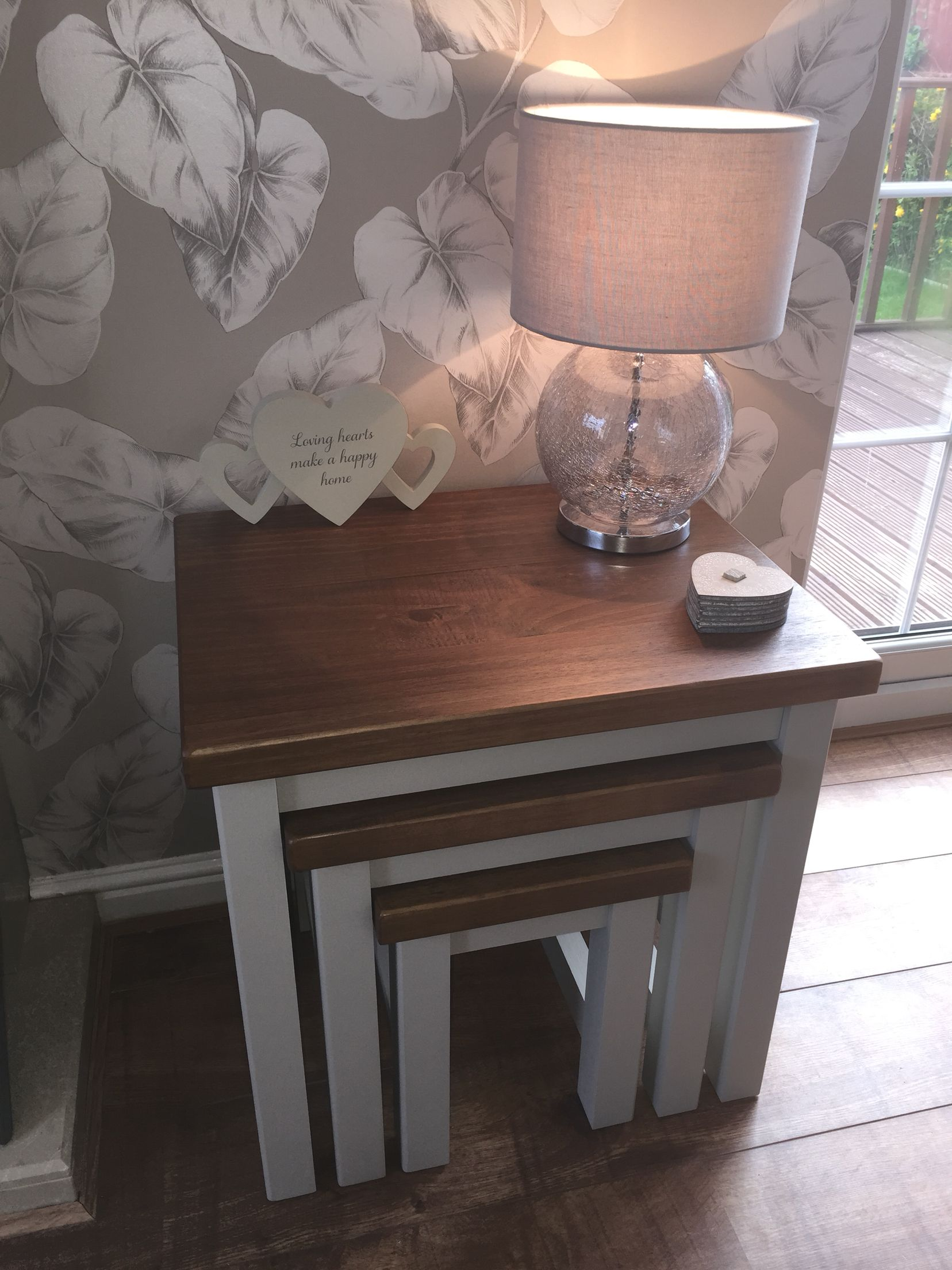 Loving my new painted Hartford tables from Next