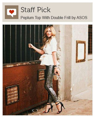 Peplum Top With Double Frill by ASOS