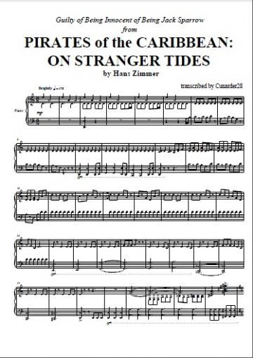 Pirates Of The Caribbean On Stranger Tides Hans Zimmer Piano