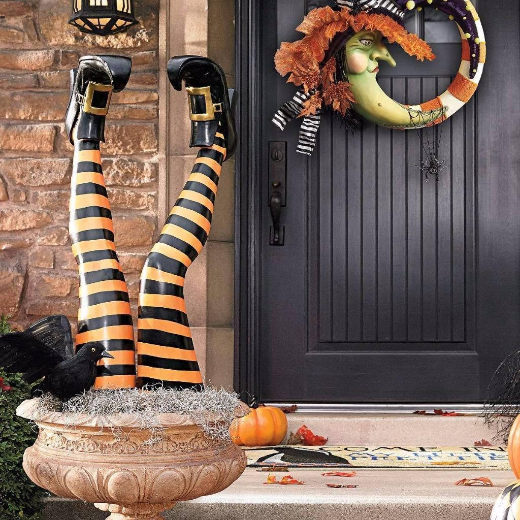 Witch Legs Set of 2 Stakes Trick or Treat Outdoor Halloween Yard - Halloween Decorations For Kids