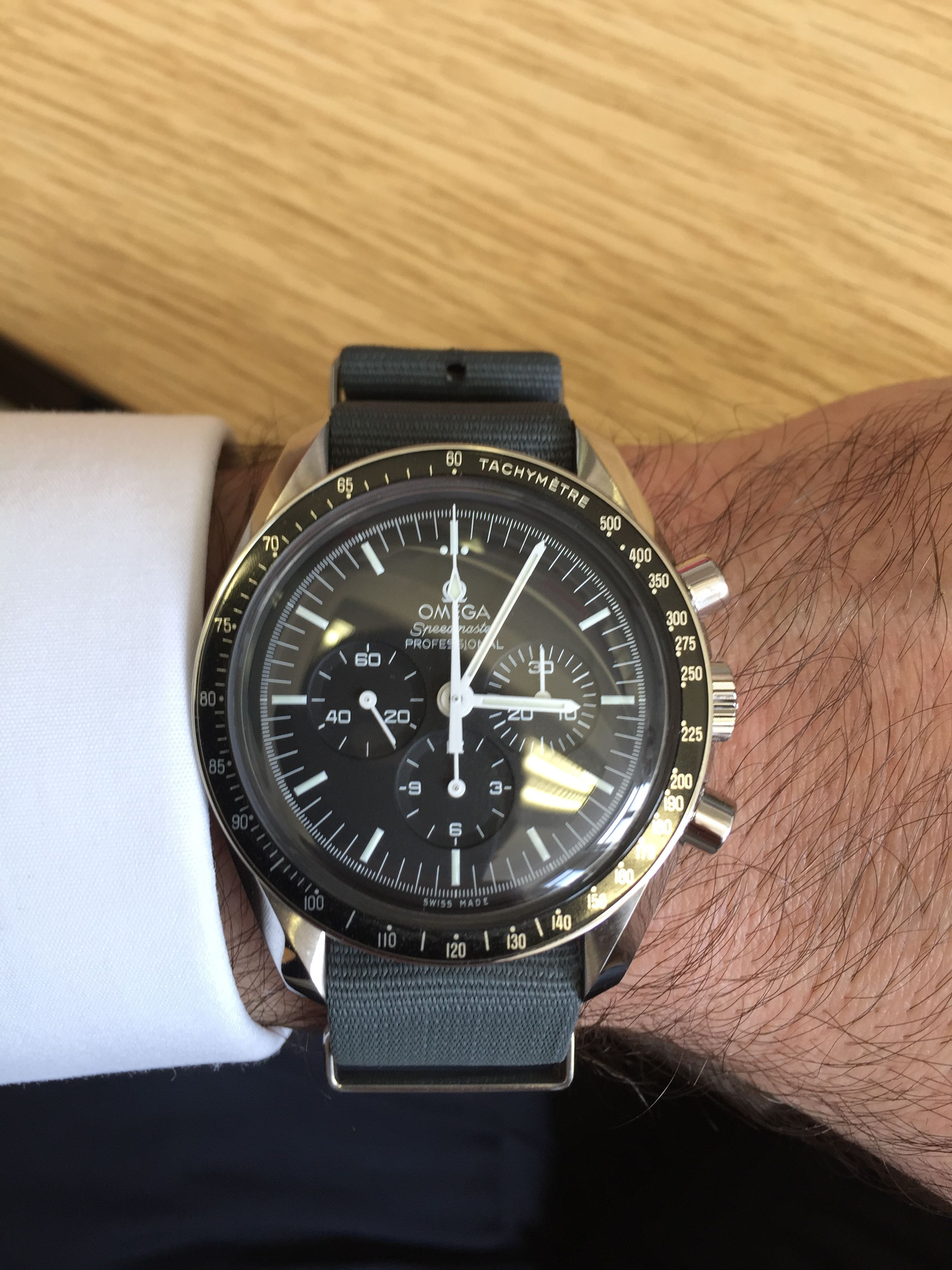 Speedmaster Professional on MOD NATO in Admiralty Grey