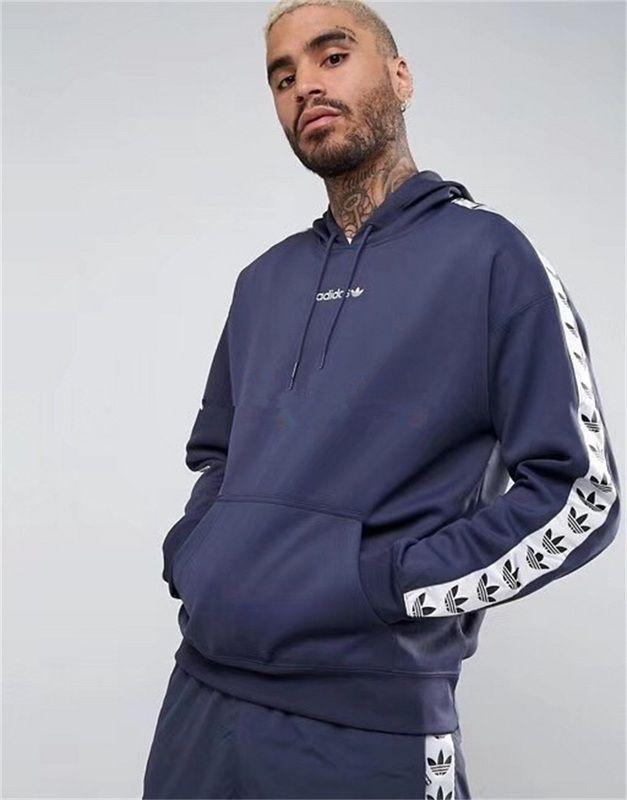 Discount Mens adidas Originals Adicolor TNT Tape Hoodie In
