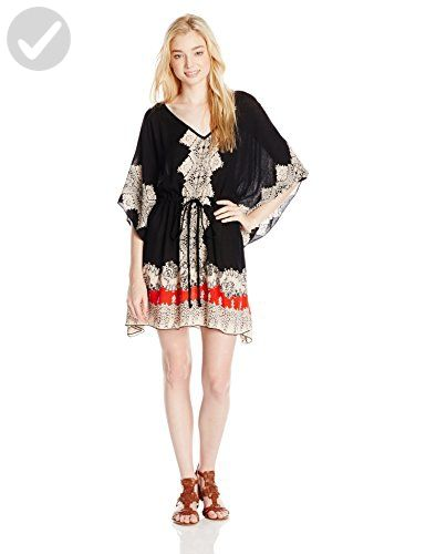 Angie Juniors Printed Kaftan Dress