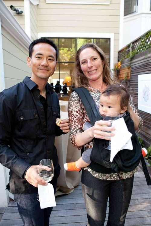 Hiroki Asai, head of graphic design at Apple, and his wife April.