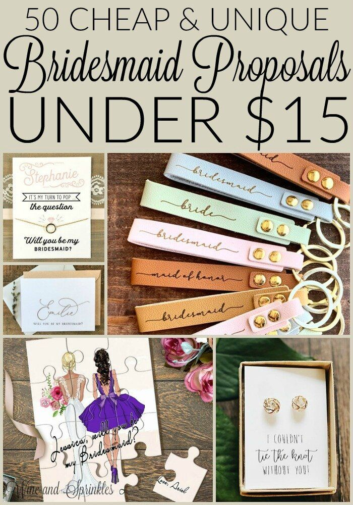 50 Cheap and Unique Bridesmaid Proposals under $15 — Wine & Sprinkles