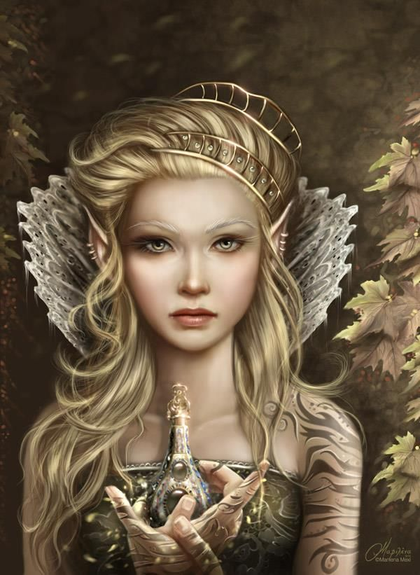 "Posted on Facebook by ""Fairies, dragons and other mythological creatures"" Art by by Marilena Mexi."