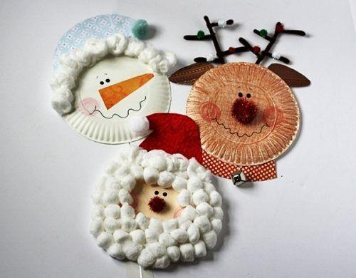 60 weihnachtliche ideen zum basteln mit pappteller f r. Black Bedroom Furniture Sets. Home Design Ideas