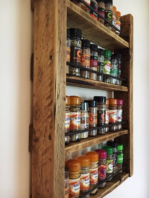 Spice Rack Storage For Spices Rustic Wood Kitchen Wooden Spice Rack Wood Spice Rack Reclaimed Wood Kitchen