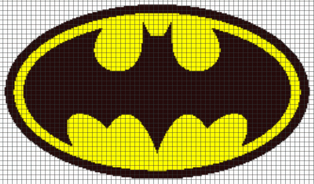 4 Name Crocheting Batman Logo Graphghan Pattern Knitting
