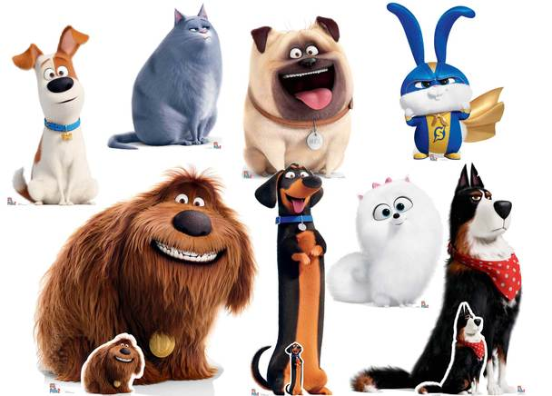 The Secret Life Of Pets 2 Cardboard Cutout Standup Collection Set Of 8 Secret Life Of Pets Animal Cutouts Pets