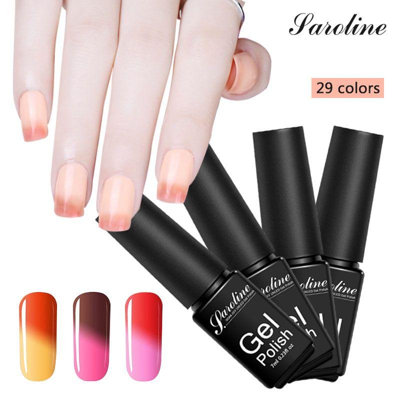 Saroline 7ml Thermal Chameleon Art Mood Color Changing UV