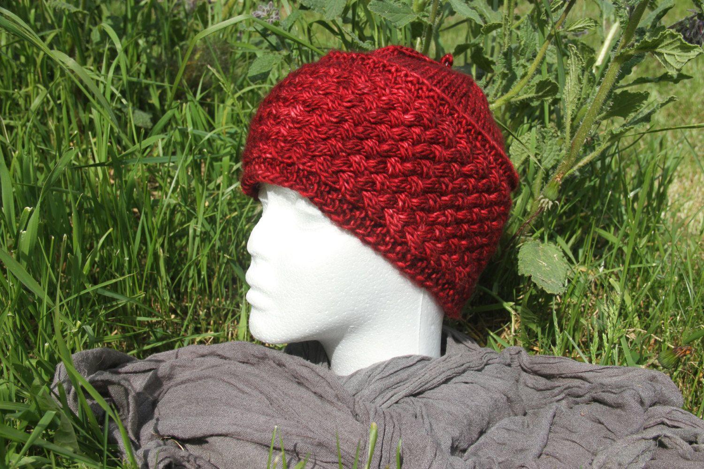 Bonnet Griotte à torsades tricoté main de la boutique CedrikOttemin sur Etsy