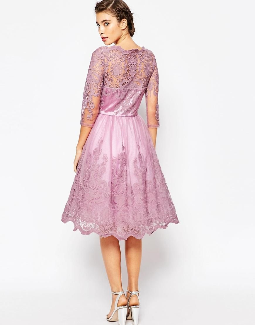 Chi Chi London | Chi Chi London Premium Lace Midi Prom Dress with ...