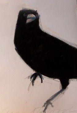 """Jeanne Goodman; """"Round Raven"""""""