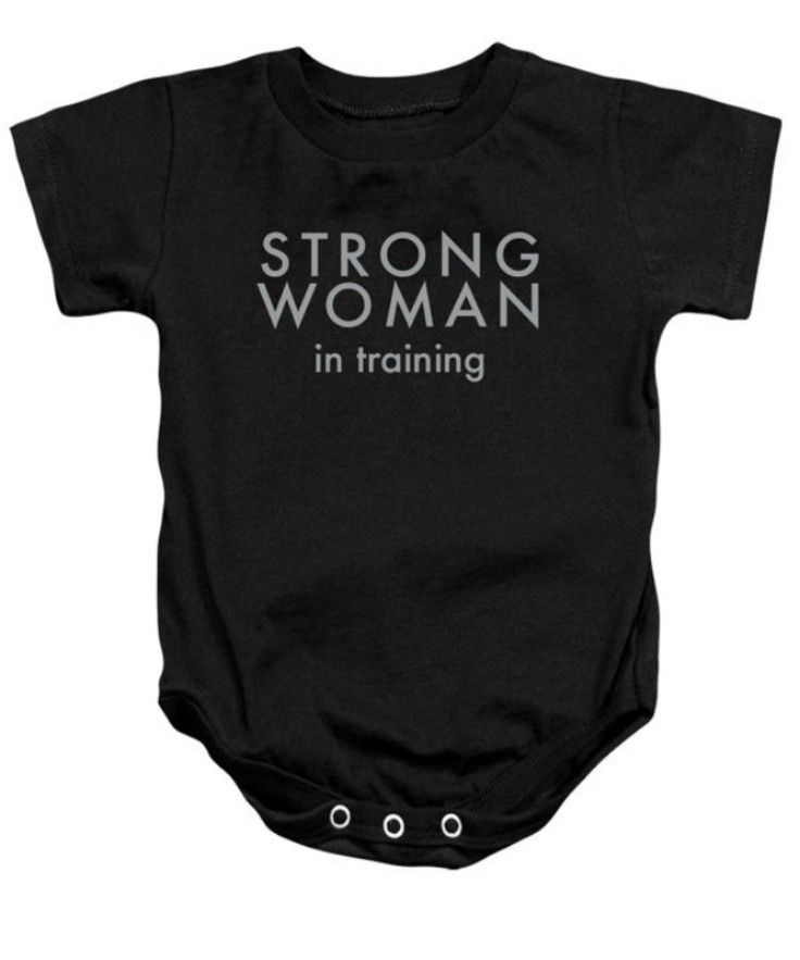 f6d54e24d This black, feminist onesie is very different compared to the floral baby  outfits in the other picture. This represents raising young girls to be  strong and ...