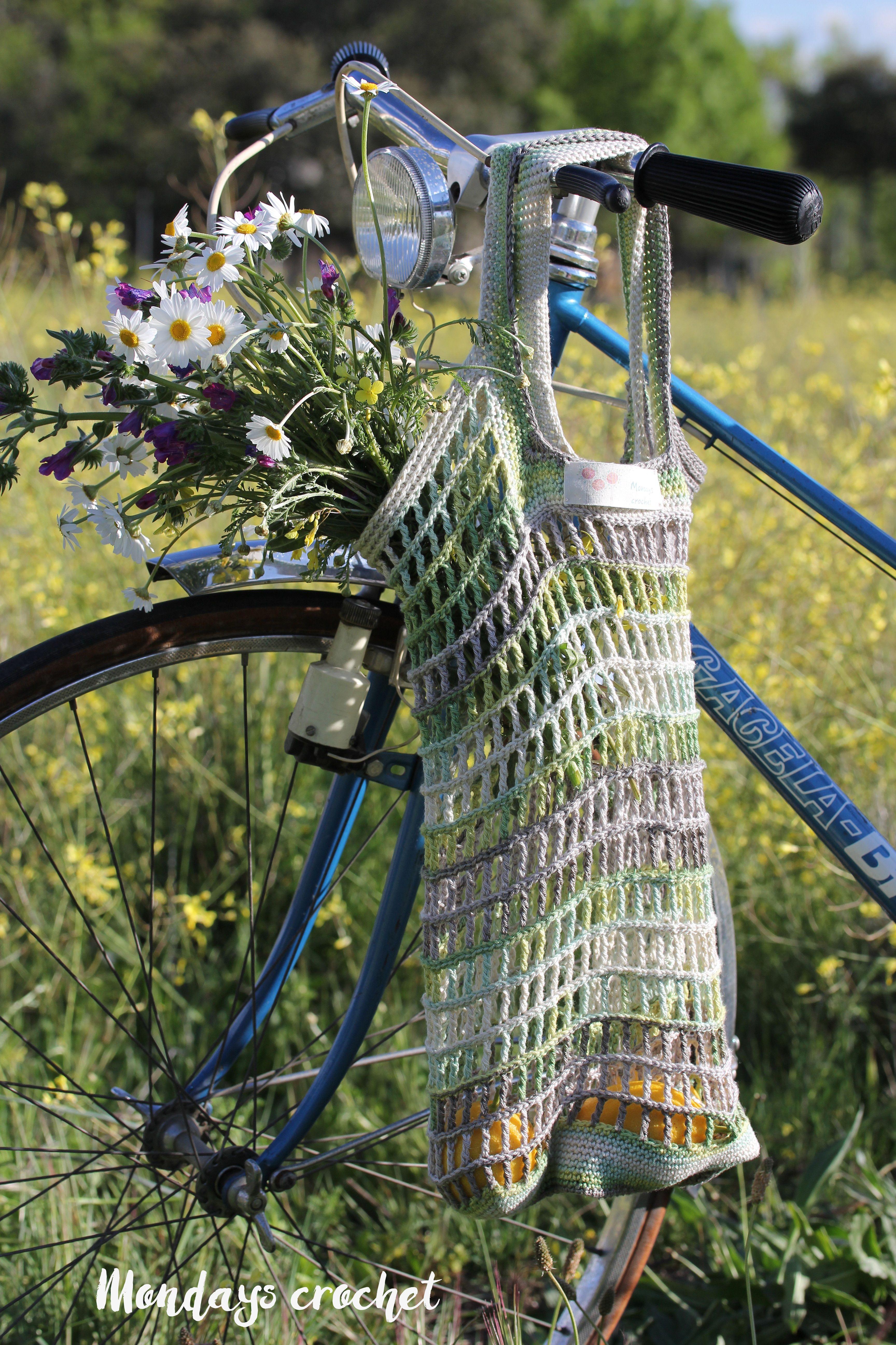 Bolsa de red de crochet. Patrón gratuito / Crochet market bag. Free ...