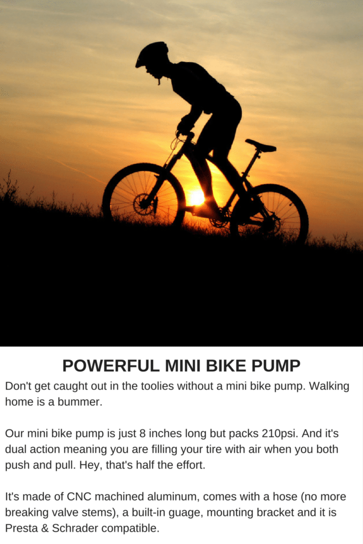 Powerful Mini Bike Pump Don T Get Caught Out In The Toolies