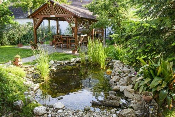 jardín con diseño rústico | varios | pinterest | estanques de