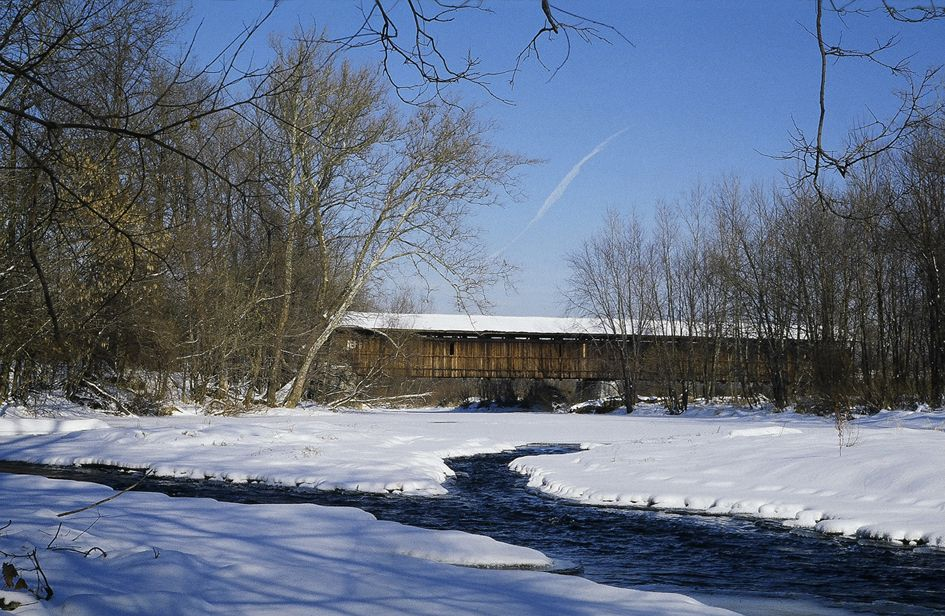 Lockington Covered Bridge in Shelby County, Ohio.