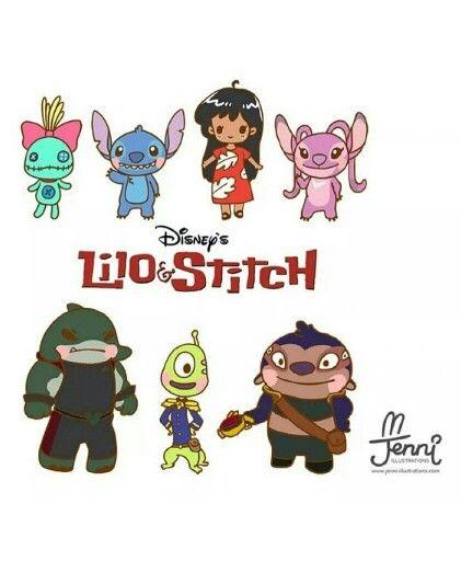 Lilo & Stitch - chibi | I Love You, Disney <3 | Pinterest | El mundo ...