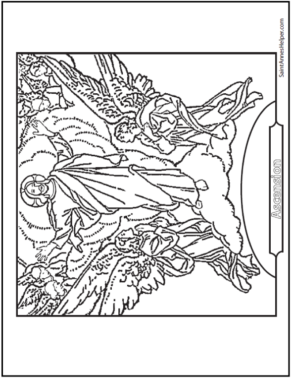 Printable Easter Coloring Pages: Jesus\' Resurrection | Easter ...