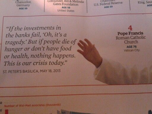I love Pope Francis!  And how he took his name.