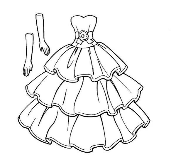 Wedding dresses coloring pages