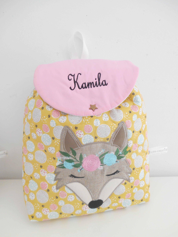 sac à dos enfant renard personnalisé,sac personnalisable enfant