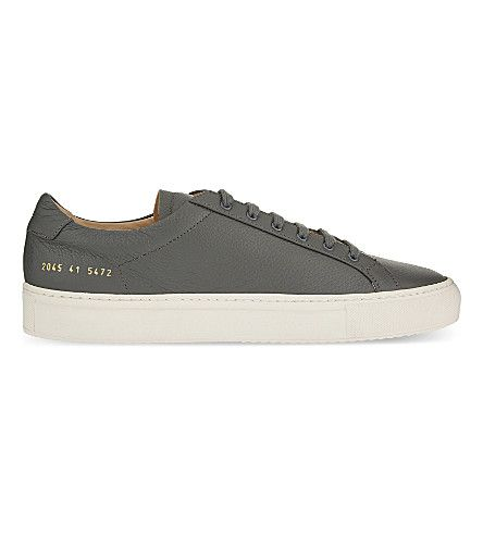 COMMON PROJECTS Premium Low-Top Leather Trainers. #commonprojects #shoes #trainers