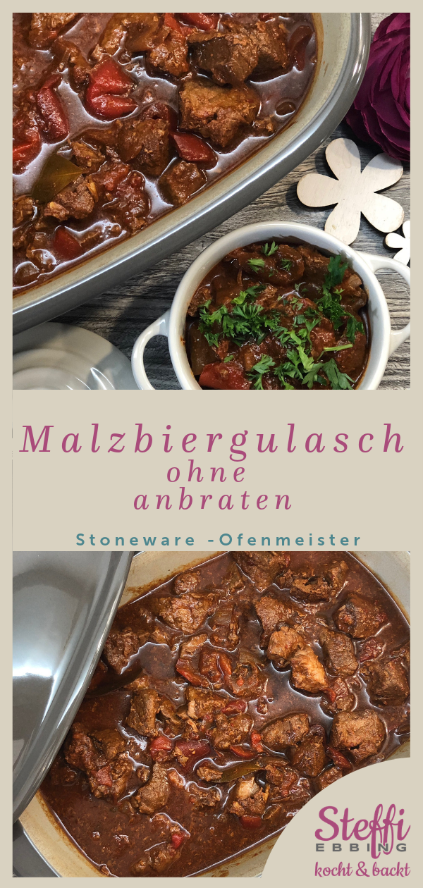 Photo of ᐅ Malt beer goulash recipe ⇒ Ofenmeister • Pampered Chef®