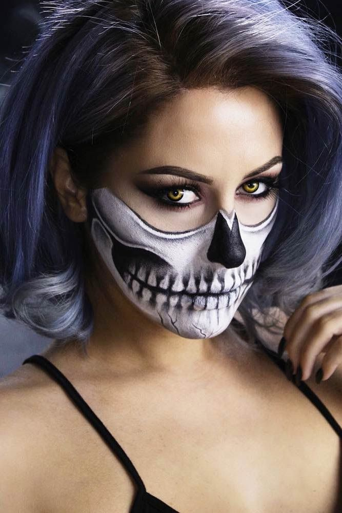 24 Really Cool Skeleton Makeup Ideas to Wear This Halloween - cool makeup ideas for halloween