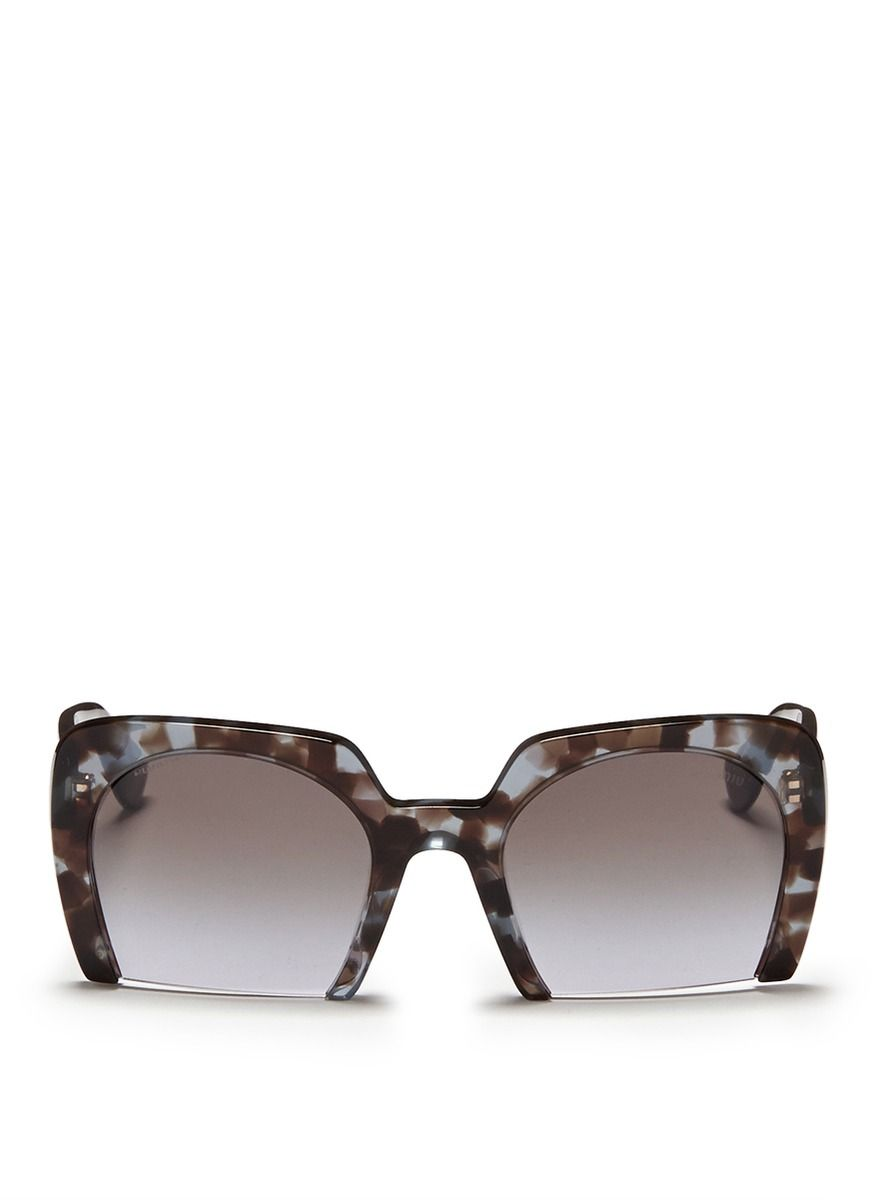 76194d4c7154 MIU MIU - Half rim tortoiseshell sunglasses