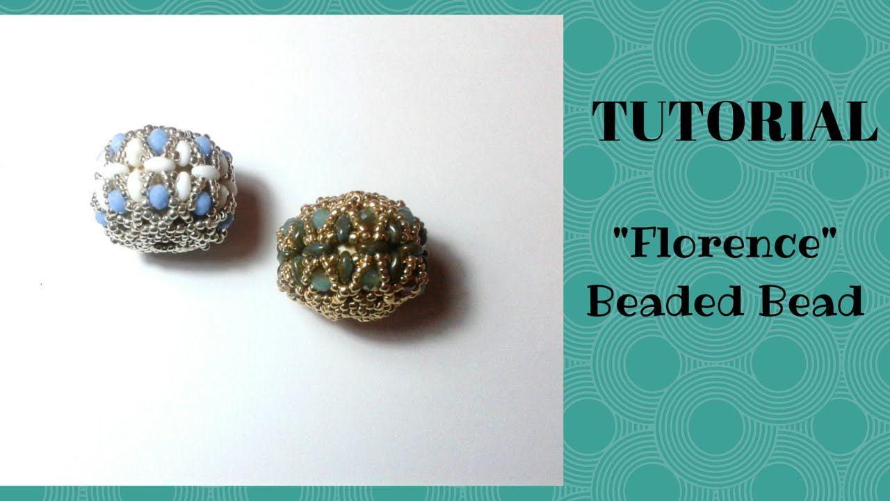 """Tutorial perline: come realizzare una sfera rivestita (beaded bead) """"Flo..."""