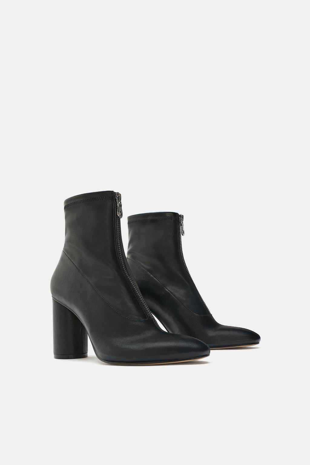 Heeled stretch ankle boots | Zara ankle