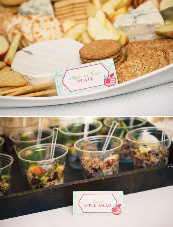 Apple Party Food Ideas Cheese Plate And Quinoa Salad