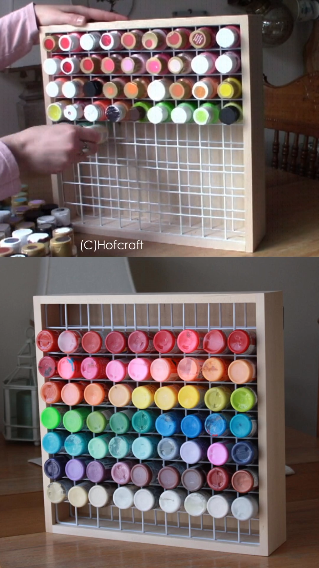 Craft Paint Storage Rack,High Quality Paint Organizer,Paint Storage,Paint Rack,Craft Storage,Paint Bottle Rack,Paint Storage,Storage is part of Craft paint storage - 2    Made out of smooth and sturdy basswood  Perfect for storing a variety of 2 oz  bottles including DecoArt Americana paints, FolkArt Acrylics or Delta Ceramcoat acrylic paint