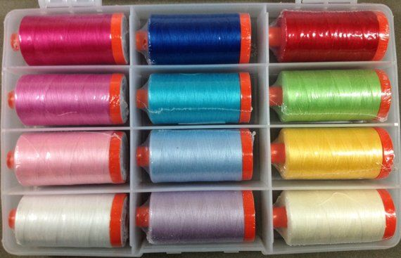 Threads 50 wt Lge Spools WILDFLOWER MEADOW Aurifil Collection by Melly /& Me